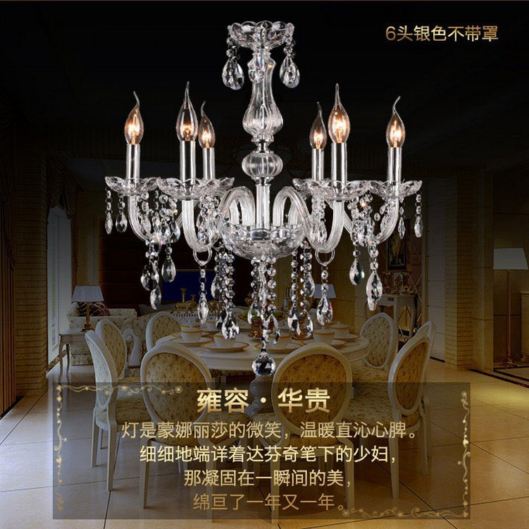 Luxurious Crystal Chandelier De Cristal dining room lamp E14 Candle Holder Novelty Wedding Decorative Lighting Fixtures(China (Mainland))