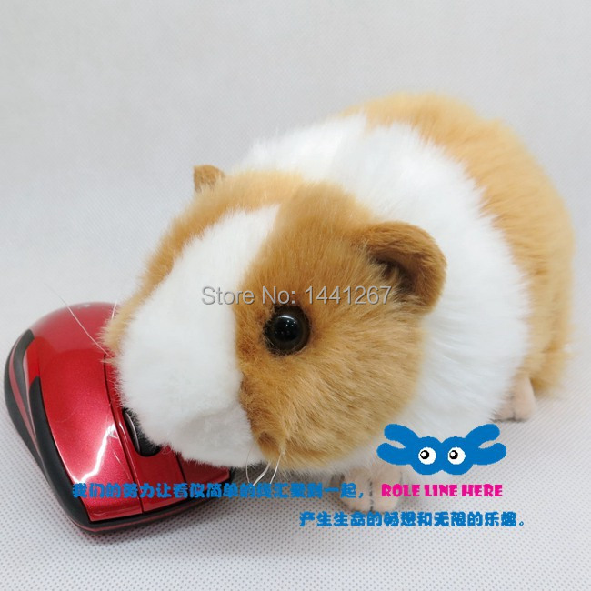 Super lovely simulation pet hamster mice cute animal plush for Free guinea pig stuff