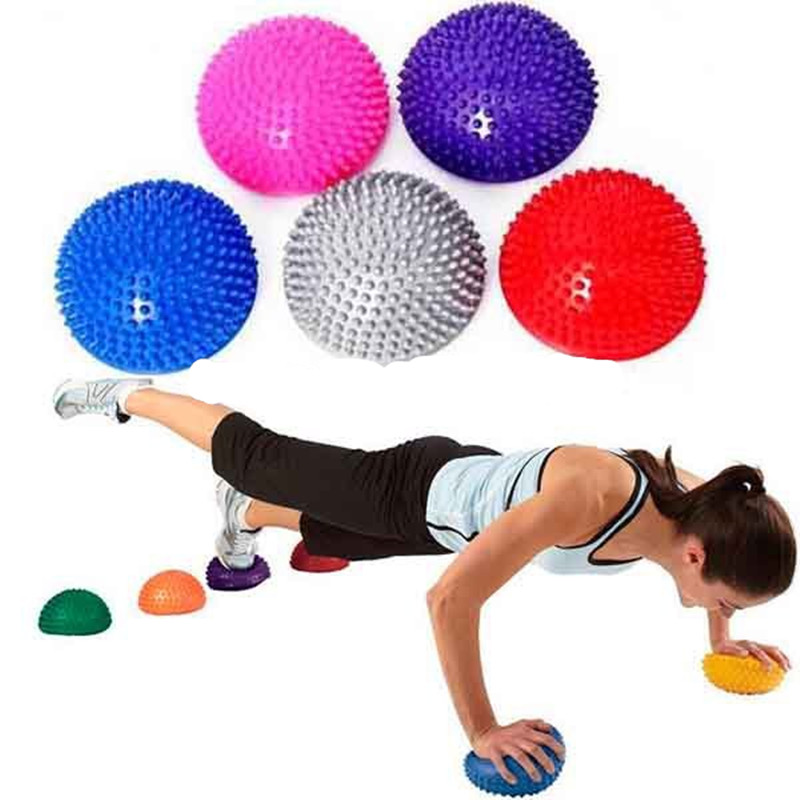 Yoga supplies Half Ball Physical Fitness Exercise trainers point massage stepping bosu balance board GYM YoGa Pilates for feet(China (Mainland))