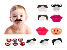 Silicone Funny Baby Pacifier Dummy Nipple Teethers Toddler Pacy Orthodontic Teat Infant Baby Christmas Gift 1pc(China (Mainland))