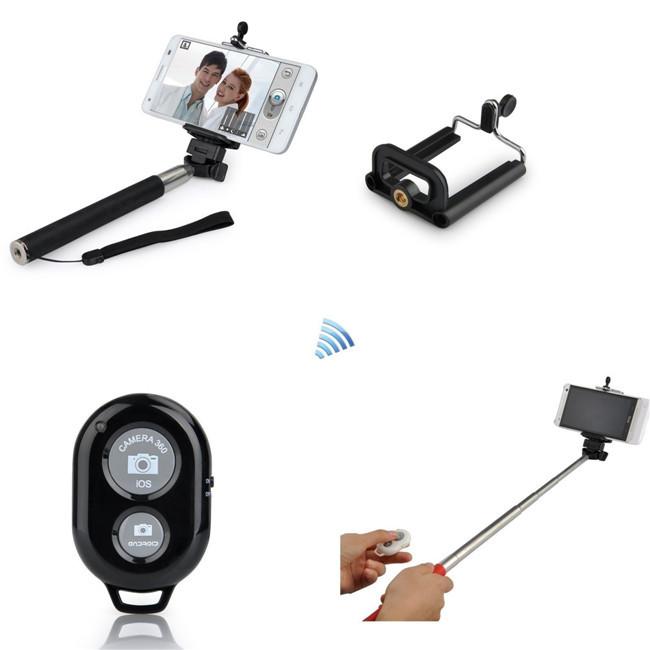 buy 2015 new extendable selfie stick bluetooth monopod phone. Black Bedroom Furniture Sets. Home Design Ideas