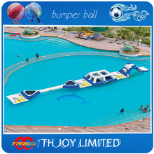 adults inflatable water floating obstacle course,inflatable water floating playground(China (Mainland))