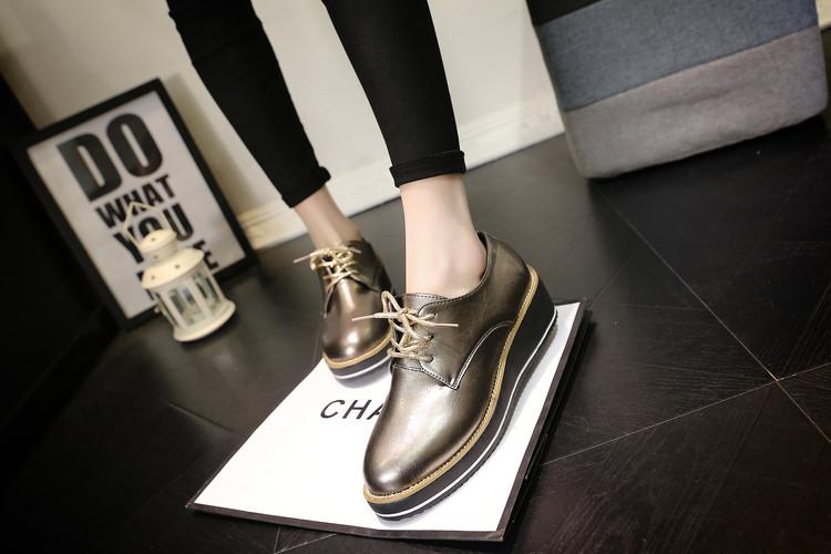 2016 Весна Oxfords Обувь Женщины Плоские Платформы Повседневная Обувь Женская Мода Баллок Женская Обувь Zapatos Mujer Sapatos FeМиниnos