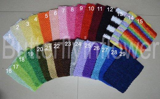 """60pcs/lot 6"""" crochet tube tops,headband halter tops"""