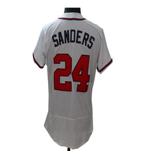 2016 New Fabric Flexbase Version #24 Deion Sanders Jersey Color Gray Red White Heat-sealed Tagless Jerseys(China (Mainland))