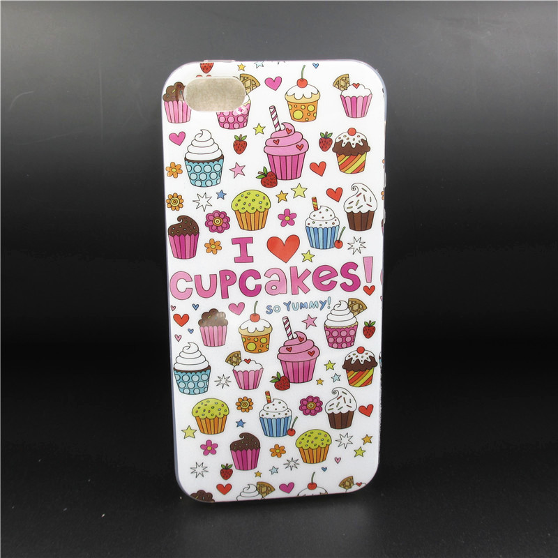 Cartoon owl/dog/Ice cream model phone case for iphone 5s TPU Material Case Cover For iphone 5 5s 5g CSJK0173