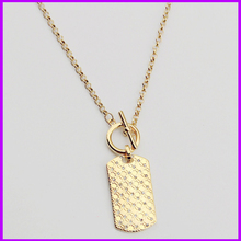 Famous Brand Bijoux Kors Long Necklaces Rectangle Pendants Letter M Fashion Trendy Silver Gold Rose Gold For Women(China (Mainland))