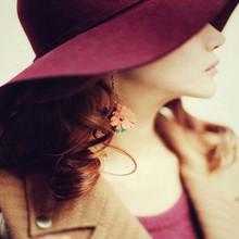 Hot Fall Winter Hats Fashion Vintage Women Hat 6 Color Beach Bowknot Sun Cap Elegant Bowknot Winter Warm Hat For Women