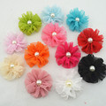 2014 New Fashion baby girls hair clips chiffon flowers hair clips hairpins for kids girls hair