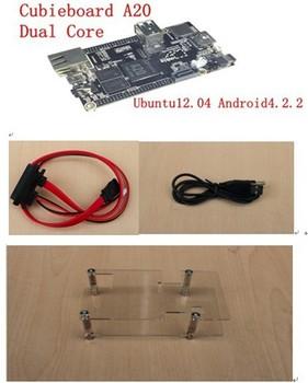 Raspberry Pi Enhanced Version MINI PC cubieboard A20 ARM Cortex A7 Dual-Core with simple case+free shipping
