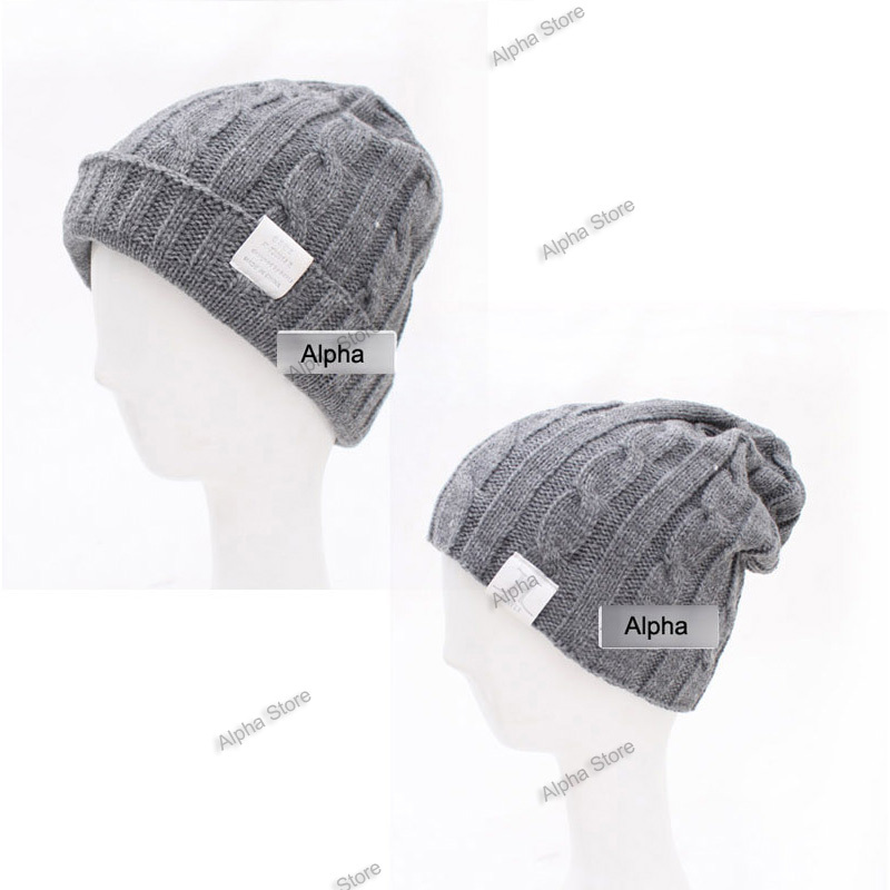 Free Shipping Solid Color Knitted Man Cap High Quality Boy Winter Hat For Male To Keep Warm Men Hats(China (Mainland))