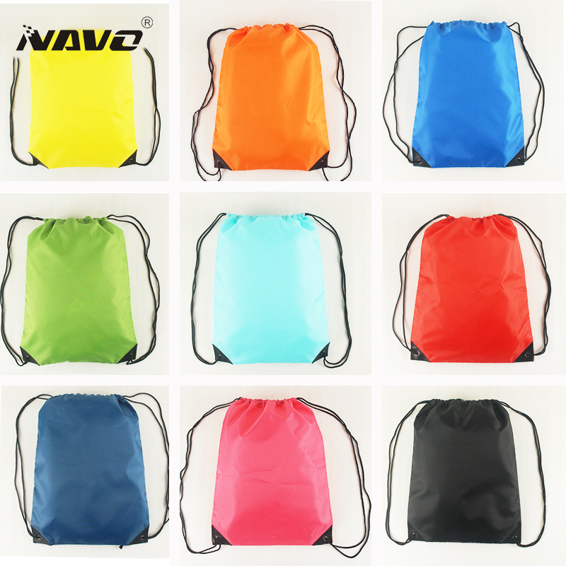Portable gym sack cheap polyester nylon drawstring backpack back bag for sports travel outdoor draw string bag for books shoes(China (Mainland))