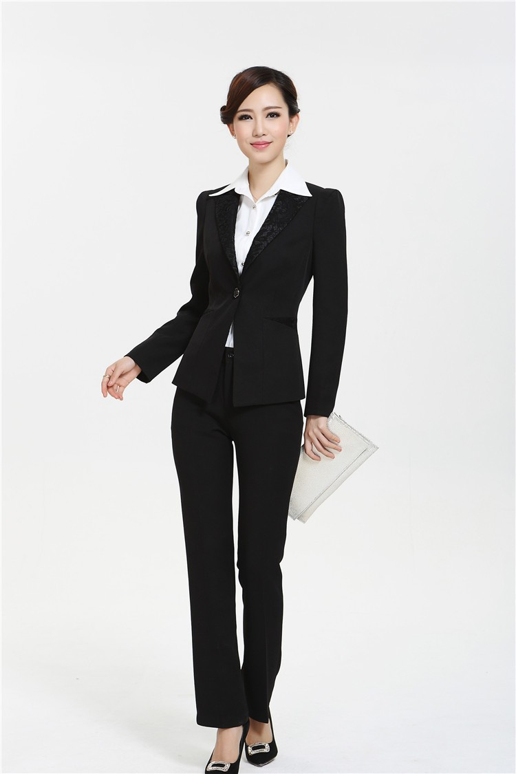 New 2015 winter formal ladies professional office uniform for Office uniform design 2015