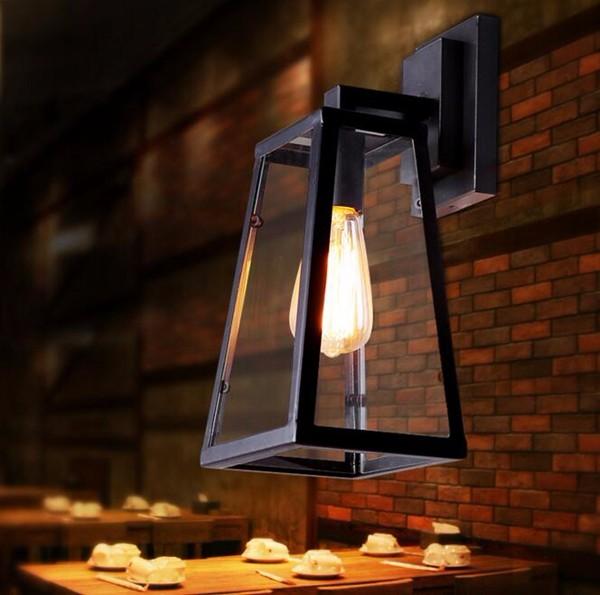 Vintage Sconce Lodge Iron Rustic Retro Wall Lamp Light Industrial Lighting Fixtures, Cafe Bar Home Decor, 110V E26  or  220V E27 (3)