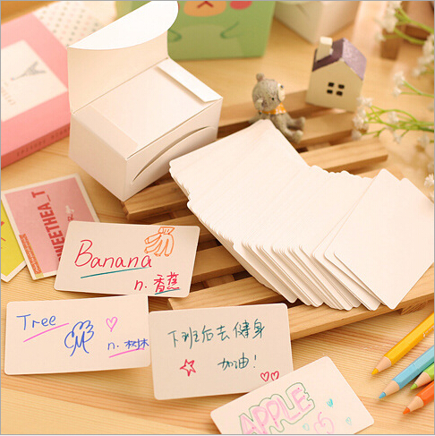 100pcs/lot White paper memo pad Leave a message Words card Post it note Sticky note School supplies Office Stationery(China (Mainland))