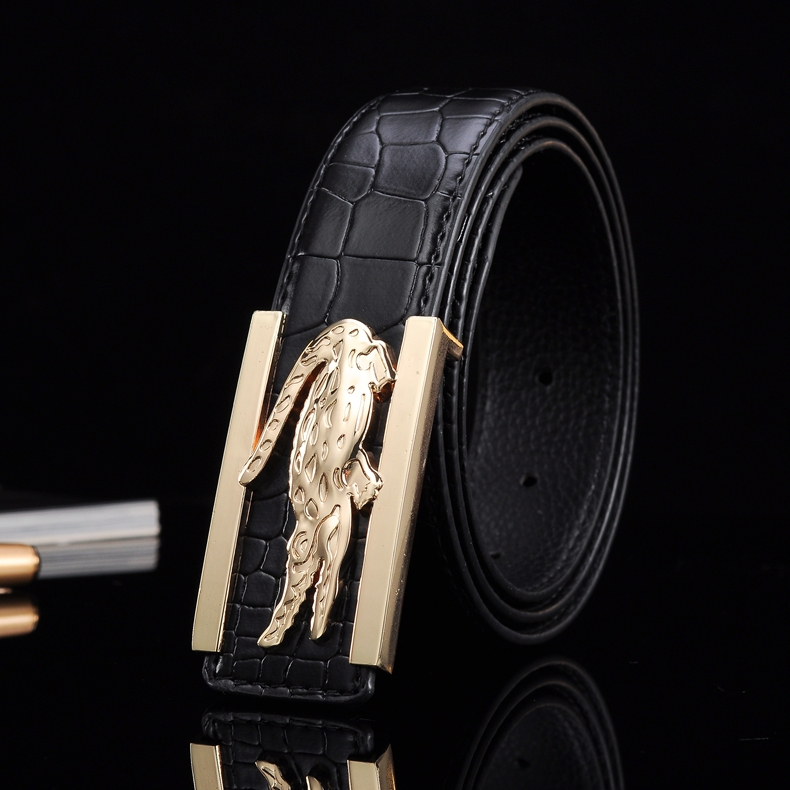 2016 New Fashion casual Mens Business Belts Luxury Ceinture crocodile Buckle Genuine Leather Belts For Men Waist strap(China (Mainland))