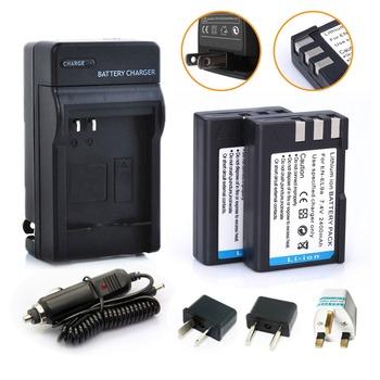 HIBTY 2400mAh Digital Boy 2pcs EN-EL9 EN EL9A LI-ION Camera Battery+charger+ Adapter For Nikon D3000 D40 D40x D5000 D60