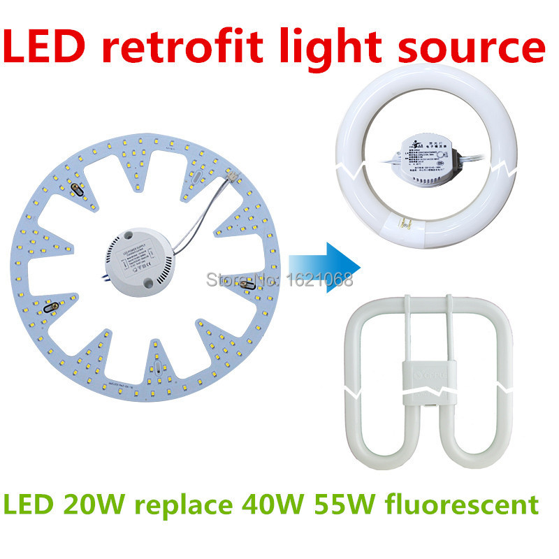 LED ceiling light source 20W with no flicker power driver SMD2835 lamparas easy installation replace 40W fluorescent luz 1PC/Lot(China (Mainland))