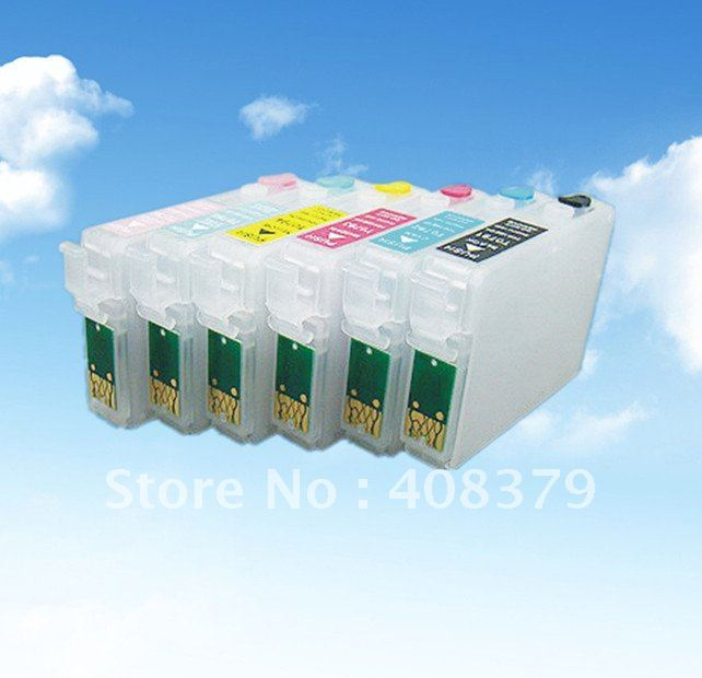 Refillable cartridge for Epson T0781-T0786<br><br>Aliexpress
