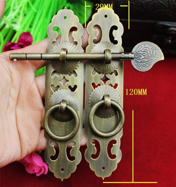 Limited Time-limited Freeshipping Antique Door Handle On The Outside Cabinet Copper Decoration Accessories Trumpet