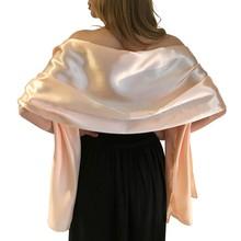 Elegant women Satin wrap shawl Evening party wrap Bridal Wedding shawl wrap 2 size available Free shipping OEM order accepted(China (Mainland))