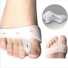 2pcs Gel Bunion Toe Separator Feet Care Pedicure Soft Gel Pro Hallux Valgus Sosu Health Monitors Foot Callus Pain Relief MH024