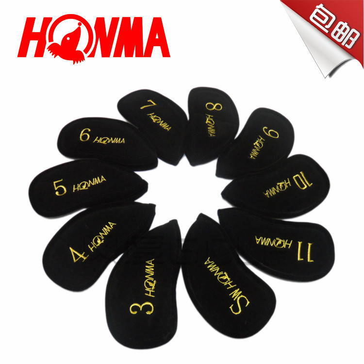 10PCS Free shipping Honma BERES Brand golf club head cover great quality made of Flannel WOOD iron cover(China (Mainland))