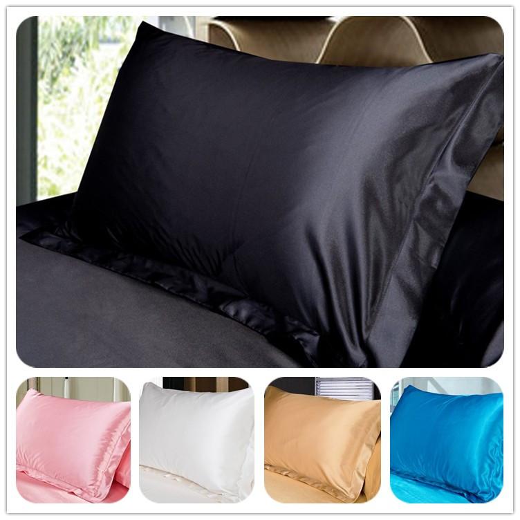 (2 Pieces/Lot) Pillow Cover Standard Queen Silk Cotton Pillow Case White/Black/Pink/Purple/Leopard Decorative Pillow Covers(China (Mainland))