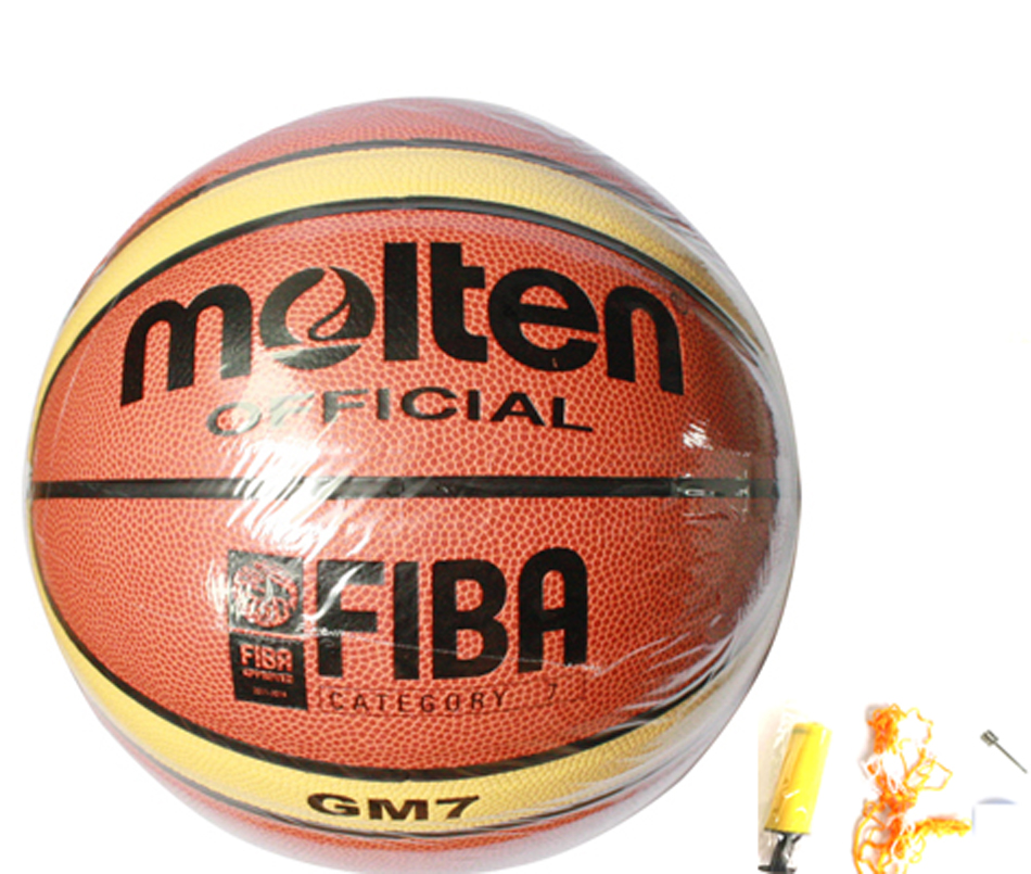 Men Outdoor And Indoor Basketball Training Equippment Size7 Molten GM7 Basketball Ball PU Leather With Free Pump+Net Nag+Pins(China (Mainland))