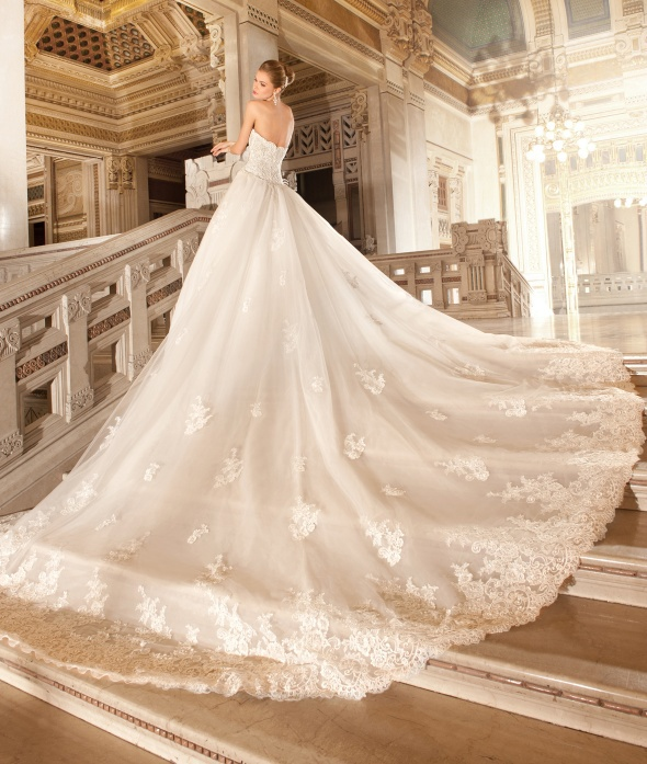 New designer detachable train wedding dresses 2015 vestido for Sweetheart designer wedding dresses
