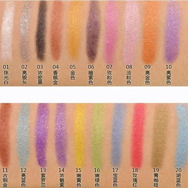 Cosméticos 19 Cores Sexy Shimmer Lip Liner Lápis Delineador À Prova D' Água Caneta Sombra de Olho