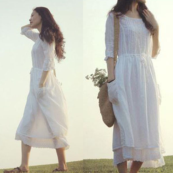 Summer Cotton Dresses Photo Album - Reikian