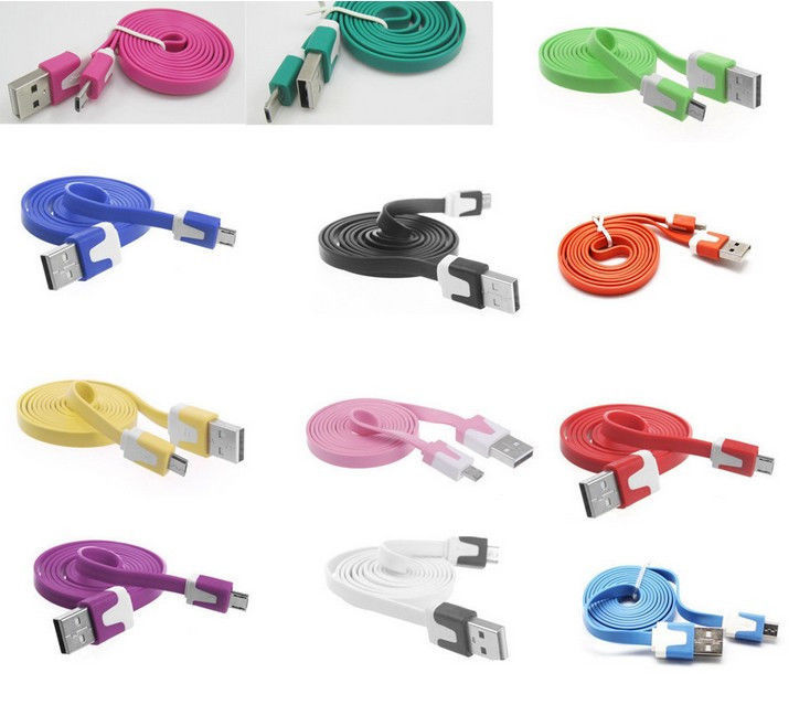Free ship New 1pcs Micro USB Cable for Samsung Galaxy S2 S3 S4 HTC U pick Colors(China (Mainland))