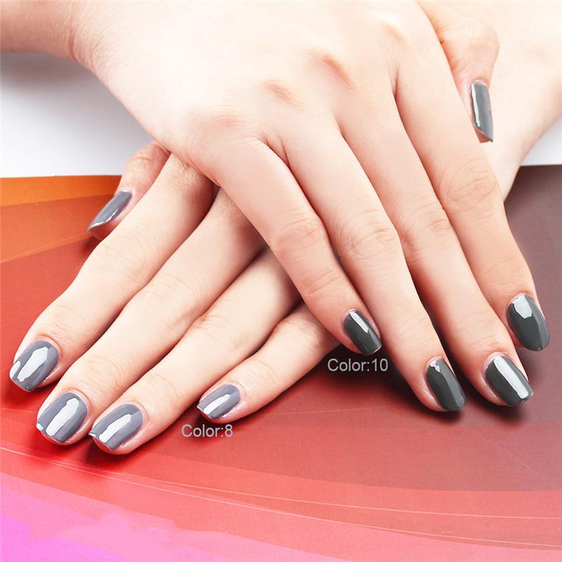 Yaoshun Classic Gray Nail Gel Varnish 8ml UV Soak Off DIY Nail Art Salon Gel Long Lasting Gel Perfect Summer Retro Grey Varnish(China (Mainland))