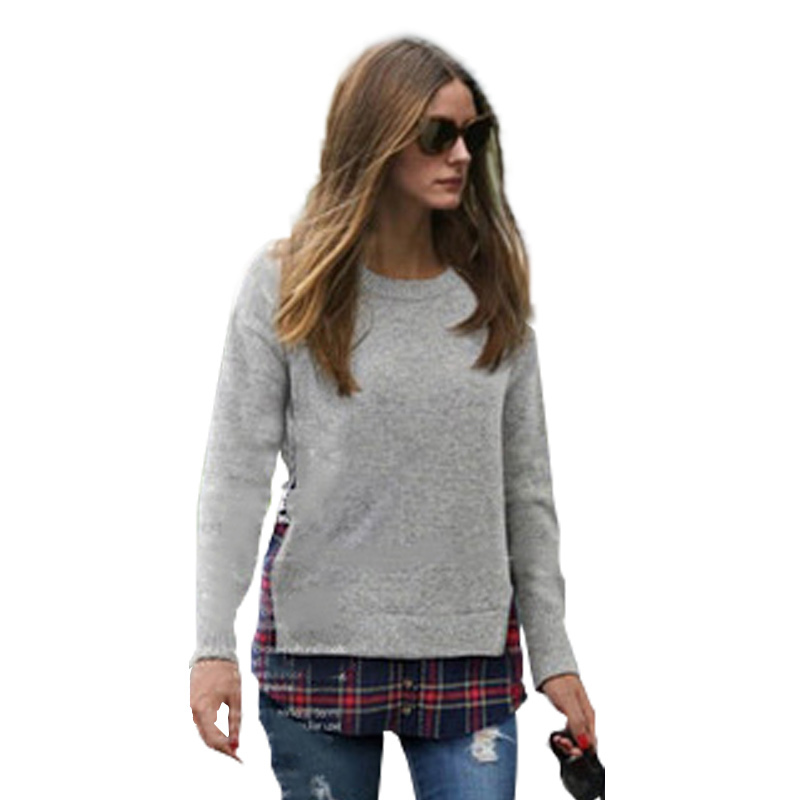 pull femme poncho xxl-5xl o-neck sweater 2015 winter autumn women sweaters and pullovers sueter casaco feminino knitted crop top(China (Mainland))