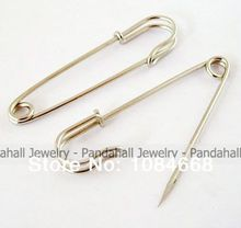 Iron Kilt Pins, Platinum Color, 70mm long, 18mm wide, 6mm thick, hole: about 6mm