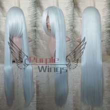 Heat Resistant Anime party Fashion 100CM long straight Silvery White cosplay Wig Anime wig