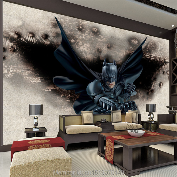 3d amazing batman wall mural custom large photo wallpaper for Design wall mural