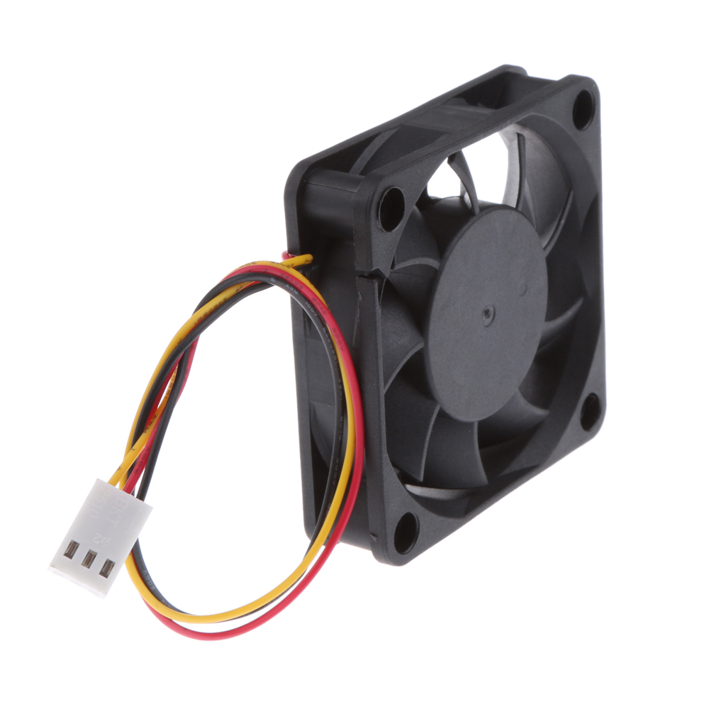 Dovewill 4pieces 12V 3Pin 60mm Mini 6cm Fan Silent Computer Cooler Cooling Fan PC