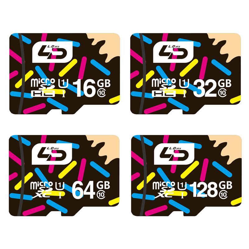LD Micro SD Card 32GB Class 10 16GB/64GB/128GB Class10 UHS-1 4GB/8GB Class 6 Memory Card Flash Memory Microsd for Smartphone(China (Mainland))