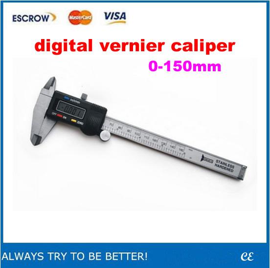 ! LCD display Electronic digital vernier caliper 0-150mm 6'' - BGA-CNC Supermaket store