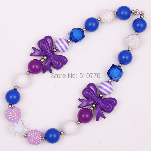 2pcs/lot baby jewelry Princess Bubblegum Necklace Chunky Baby Girls DIY jewelry birthday gift toddler jewelry free shipping(China (Mainland))