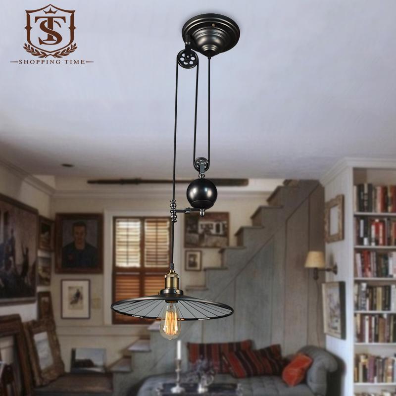 achetez en gros poulie pendentif lumi re en ligne des grossistes poulie pendentif lumi re. Black Bedroom Furniture Sets. Home Design Ideas