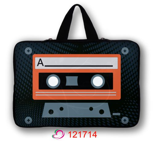 "Cassette Tape Laptop Sleeve Bag Carry Case +Hide Handle For 15"" 15.6"" HP Pavilion DV6(China (Mainland))"