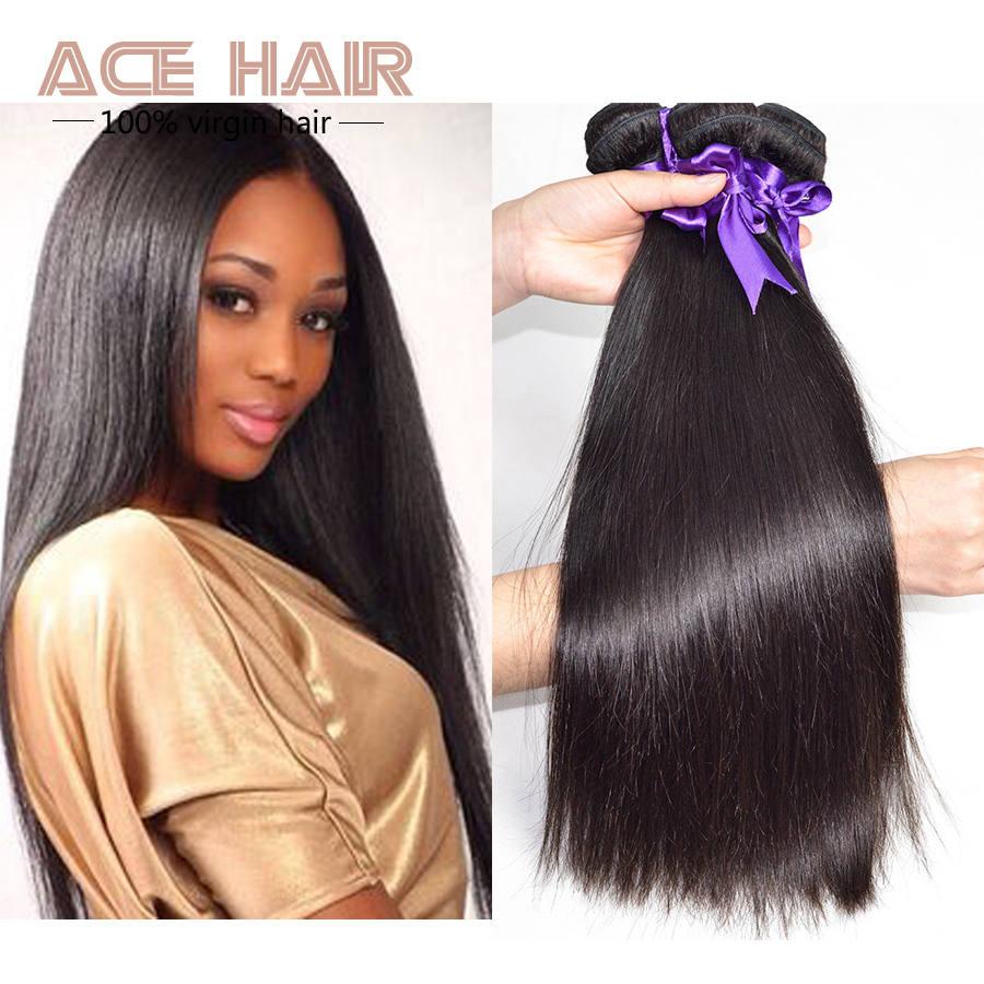 ACE Hair Products Eurasian Virgin Hair Straight Virgin Hair Extensions 3pcs,8-30INCH Human Hair Extensions(China (Mainland))