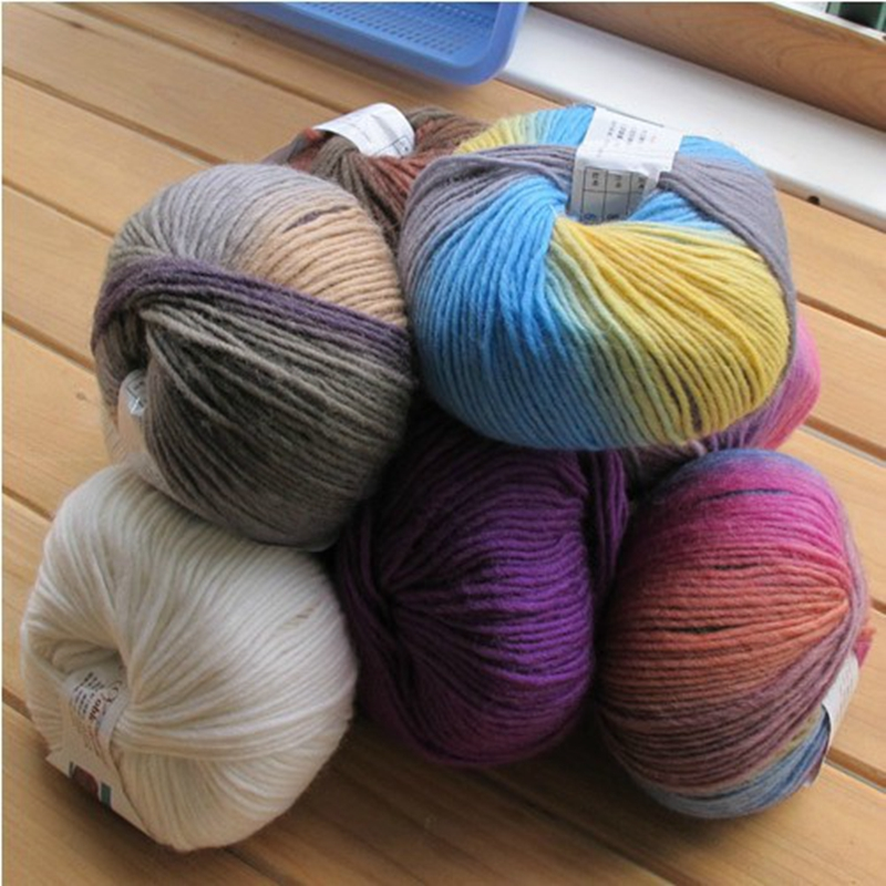 Yarn Space Dye Scarf Sweater Coat Yarn for Knitting ,1Kg/Lot Knitted ...