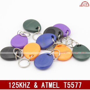 Free Shipping 150pcs/bag RFID key fobs 125KHz proximity ABS key tags/for access control read and write ATMEL T5577 chip