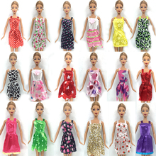 NK Hot Sell One Set=5 Pcs Mix Sorts 2016 Newest Beautiful Handmade Party Clothes Fashion Dress For Barbie Doll Best Gift Toys(China (Mainland))