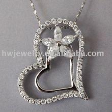 good quality heart shape lover hotsale 925 silver pendant(China (Mainland))