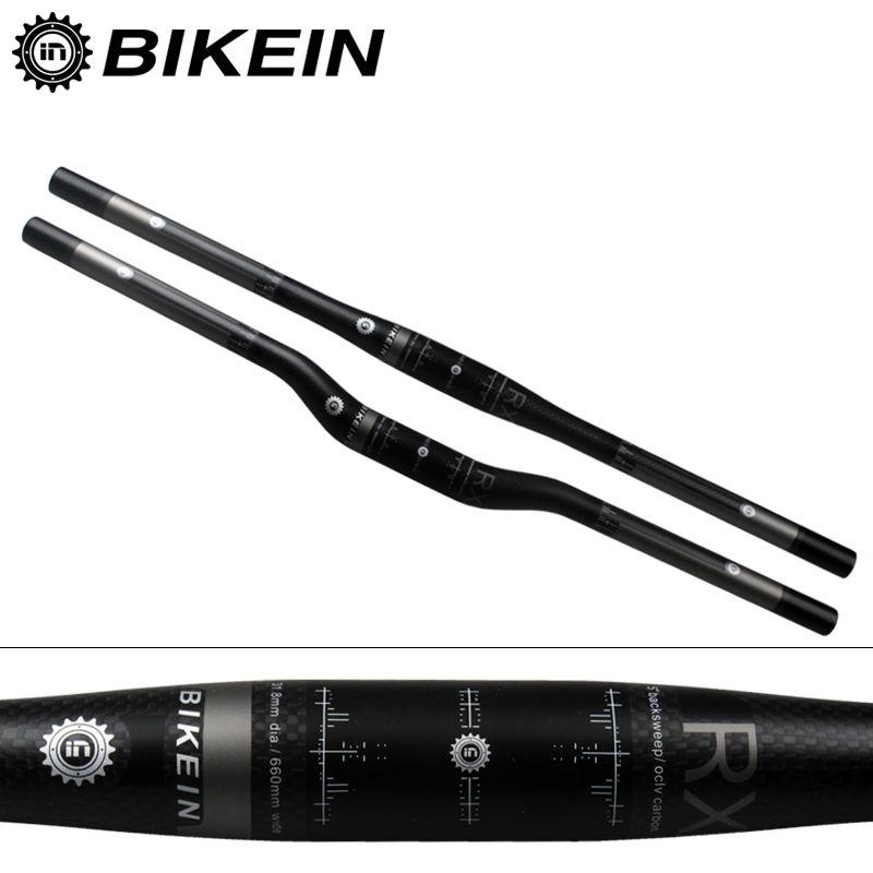 BIKEIN RXL Ultralight 3k Carbon Mountain Bike Flat/Rise Handlebar Cycling MTB Handlebars 31.8mm Matte Black Bicycle parts 135g(China (Mainland))